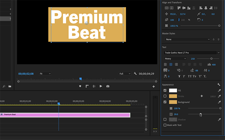 6 New Features in Premiere Pro's Essential Graphics Panel - Backgrounds