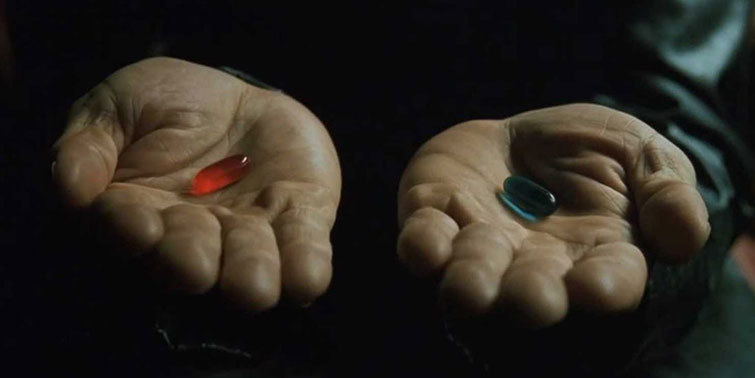 Story Circle: Red Pill Blue Pill